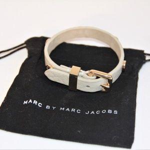 Marc by Marc Jacobs Cream Leather Bracelet